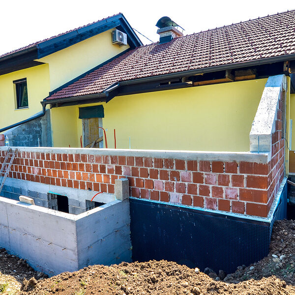 rebuilding a family house and adding an extension.