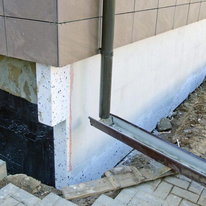 a downspout rain gutter system